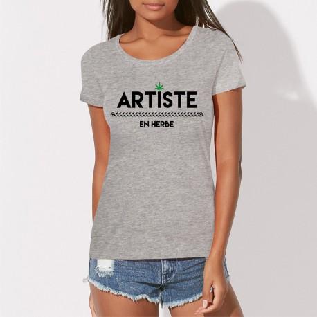 ARTISTE EN HERBE TEE SHIRT FEMME