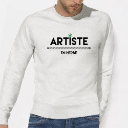 SWEAT SHIRT GRAPHIQUE ARTISTE EN HERBE